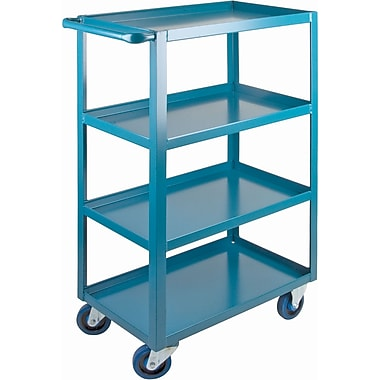 KLETON Heavy-Duty Shelf Carts, 4 Shelves, Lip Up, 48