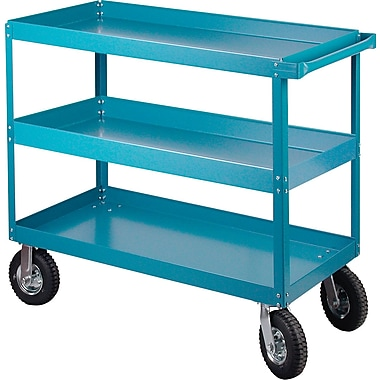 KLETON Knocked-Down Shelf Carts, 3 Shelves, 8