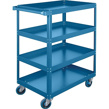 KLETON Knocked-Down Shelf Carts, 4 Shelves, 5