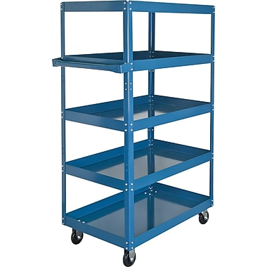 KLETON Knocked-Down Shelf Carts, 5 Shelves, 5