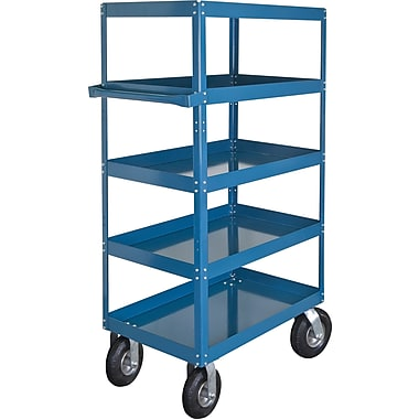 KLETON Knocked-Down Shelf Carts, 5 Shelves, 8