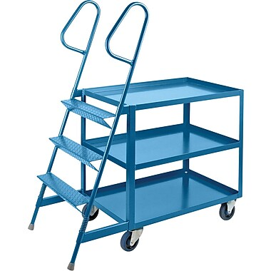KLETON Stock Picking Carts, 3 Shelves, 3 Steps