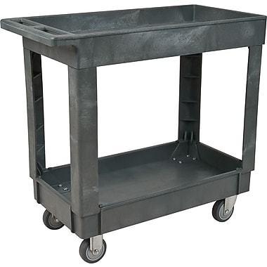 KLETON Plastic Utility Service Carts, 2 Shelves