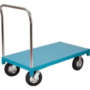 "KLETON Steel Deck Platform Trucks, 8"" Full Pheumatic Casters"