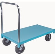 "KLETON Steel Deck Platform Trucks, 8"" High-temp Nylon Casters"