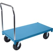 "KLETON Heavy-Duty Platform Trucks, 8"" High-temp Nylon Casters, Steel Deck, Standard Corner"