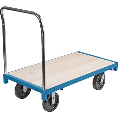 KLETON – Chariot à plateforme robuste, roulettes en nylon haute température de 8 po, plateforme en bois, roulettes aux coins