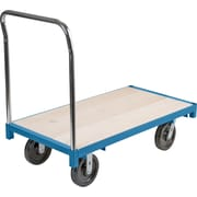 "KLETON Heavy-Duty Platform Trucks, 8"" High-temp Nylon Casters, Wood Deck, Standard Corner"
