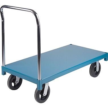 KLETON – Chariot à plateforme robuste, roulettes en caoutchouc moulé de 8 po, plateforme en acier, roulettes aux coins