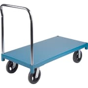 "KLETON Heavy-Duty Platform Trucks, 8"" Mold-on Rubber Casters, Steel Deck, Standard Corner"