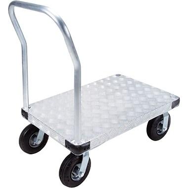 KLETON – Chariot à plateforme en aluminium, roulettes pneumatiques de 8 po, plateforme à saillie