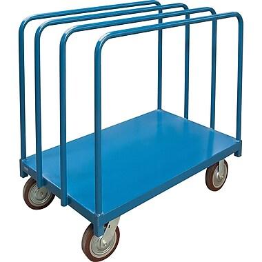 KLETON – Chariot robuste avec supports pour panneaux à palier unique, roulettes en polyuréthane moulé de 8 po