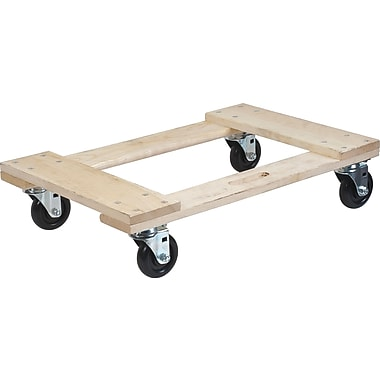 KLETON – Socle roulant en bois franc, tout en bois