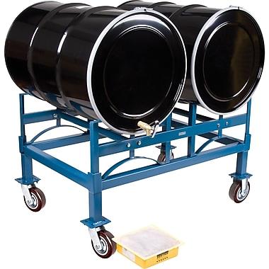 KLETON Drum Stacking Racks & Dollies Kits, 2 Drums, Hi-Temp Wheel, 1,600 lb. capacity