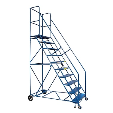 KLETON Rolling Step Ladders, With Locking Step and Handrails