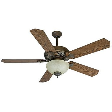 Craftmade 52'' Mia Ceiling Fan; Aged Bronze / Vintage with Coffee / Oak Blades