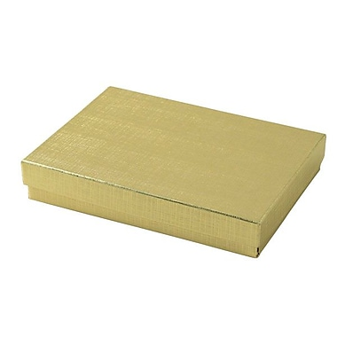 Shamrock 5 1/4in. x 3 3/4in. x 7/8in. Linen Foil Jewelry Boxes