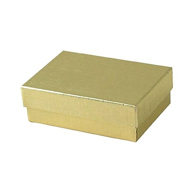 Shamrock 3 1/16in. x 2 1/8in. x 1in. Linen Foil Jewelry Boxes