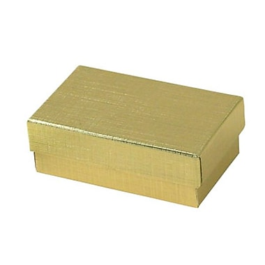 Shamrock 2 1/2in. x 1 1/2in. x 7/8in. Linen Foil Jewelry Boxes