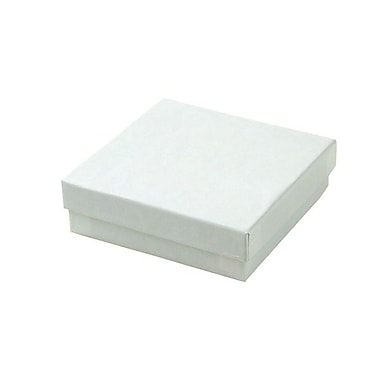 Shamrock 3 1/2in. x 3 1/2in. x 1in. Jewelry Box, Swirl White