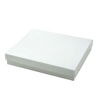Shamrock 6in. x 5in. x 1in. Jewelry Box, Swirl White