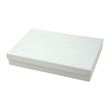 Shamrock 7in. x 5 1/2in. x 1in. Jewelry Box, Swirl White