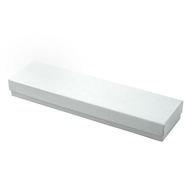 Shamrock 8in. x 2in. x 7/8in. Jewelry Box, Swirl White