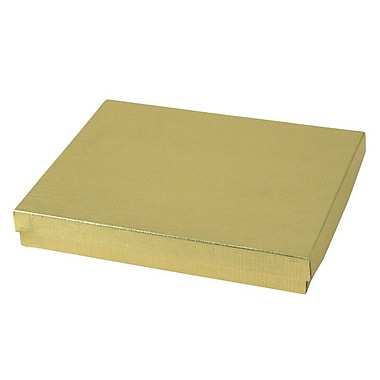 Shamrock 7in. x 5 1/2in. x 1in. Linen Foil Jewelry Boxes