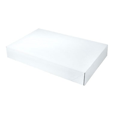Shamrock 17in. x 11in. x 2 1/2in. White Alligator Embossed 2 Piece Pop Up Apparel Box, White/Gray