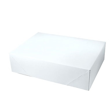 Shamrock 15in. x 11in. x 4in. White Alligator Embossed 2 Piece Pop Up Apparel Box, White/Gray