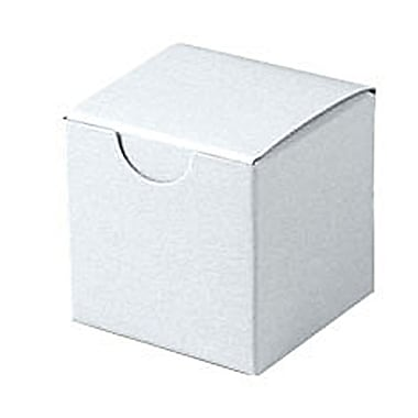 Shamrock 2in. x 2in. x 2in. White Alligator Embossed Tuck-It 1 Piece Folding Gift Box, White