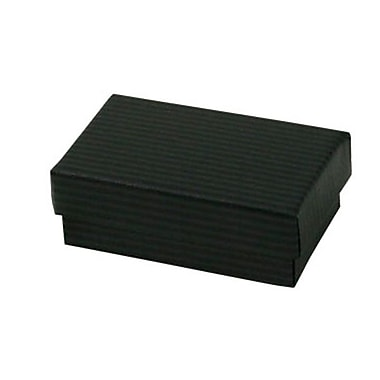 Shamrock 2 1/2in. x 1 1/2in. x 7/8in. Black Pinstripe Kraft Jewelry Box, Black/Gray