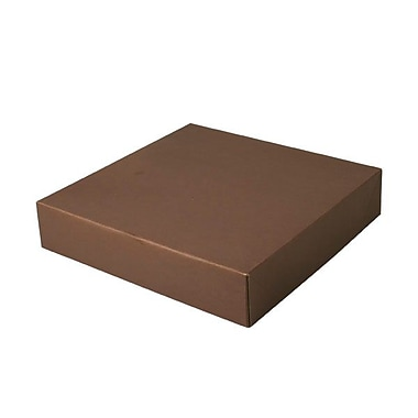 Shamrock Board 2.5in.H x 12in.W x 12in.L Gift Boxes, Brown, 50/Carton