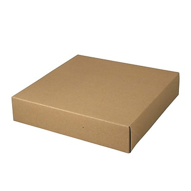Shamrock Kraft Paper 2.5in.H x 12in.W x 12in.L Gift Boxes, Brown, 50/Carton