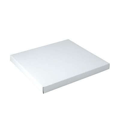 Shamrock 12in. x 12in. x 1in. White Gloss Tuck-It 1 Piece Folding Gift Box, White/Gray