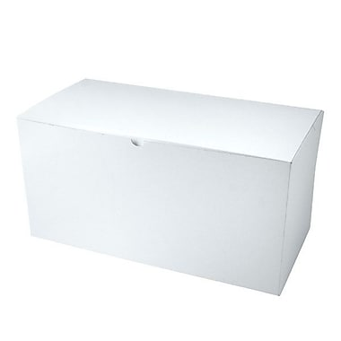 Shamrock 17in. x 8 1/2in. x 8 1/2in. White Gloss Tuck-It 2 Piece Folding Gift Box, White/Gray