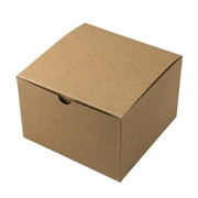 "Shamrock Kraft Paper 4""H x 6""W x 6""L Gift Boxes, Brown, 100/Carton"