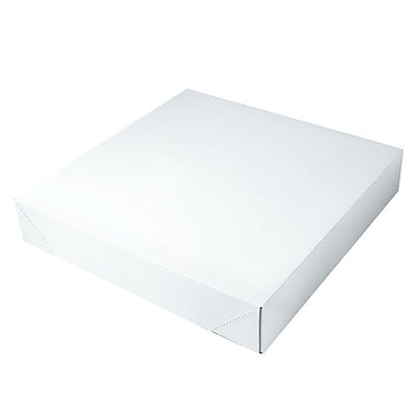 Shamrock 16in. x 16in. x 3in. White Alligator Embossed Tuck-It 2 Piece Folding Gift Box, White