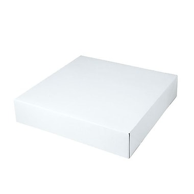 Shamrock 12in. x 12in. x 2 1/2in. White Alligator Embossed Tuck-It 2 Piece Folding Gift Box, White