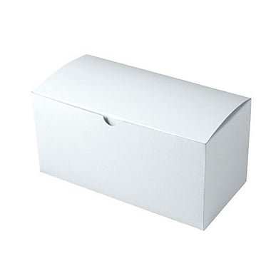 Shamrock 9in. x 4 1/2in. x 4 1/2in. White Alligator Embossed Tuck-It 1 Piece Folding Gift Box, White