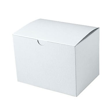 Shamrock 6in. x 4 1/2in. x 4 1/2in. White Alligator Embossed Tuck-It 1 Piece Folding Gift Box, White