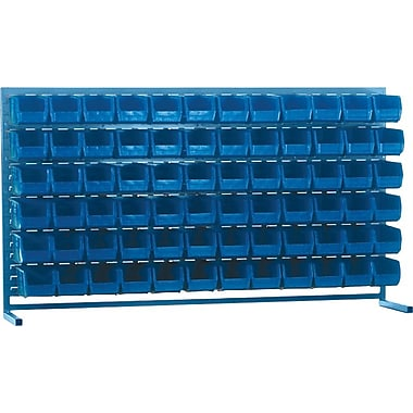 Kleton Louvered Bench Bin Racks, 72 Bins, 10-7/8