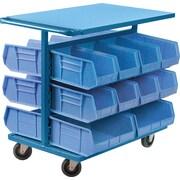 """Kleton Bin Carts, 24""""W. x 38-1/2""""D. x 36-1/2""""H., 20 Bins"""