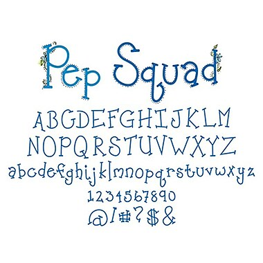 Sizzix® Sizzlits Alphabet Dies Set, Pep Squad