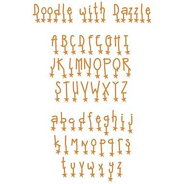 Sizzix® Sizzlits Alphabet Set Dies, Doodle With Dazzle