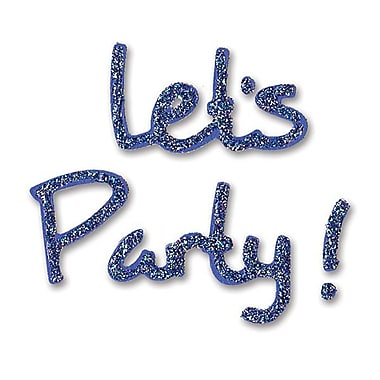 Sizzix® Sizzlits Die, Phrase Let's Party