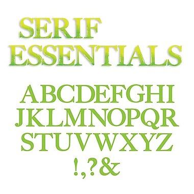 Sizzix® Bigz Alphabet Set 7 Die, Serif Essentials
