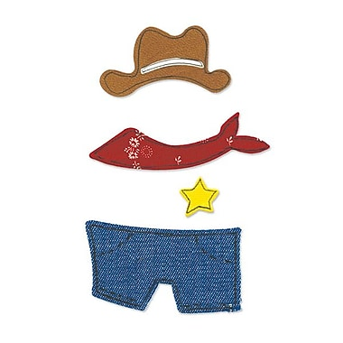 Sizzix® Originals Die, Animal Dress Ups Cowboy Outfit