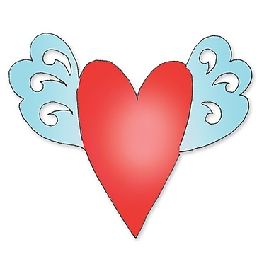 Sizzix® Originals Die, Heart w/Wings