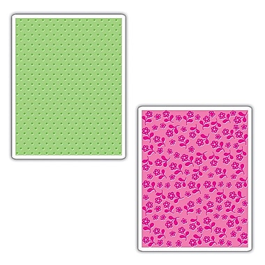 Sizzix® Textured Impressions Embossing Folder, Dots and Flowers Set